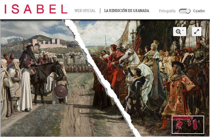 Cuadro interactivo de la Rendición de Granada en la serie Isabel donde podrás conocer cómo se produjo dicho acontecimiento con infografías, vídeos e imágenes