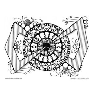 Mandala Coloring Pages For Adults Jennifer Stay Has Created Another Unique Design To Fill With