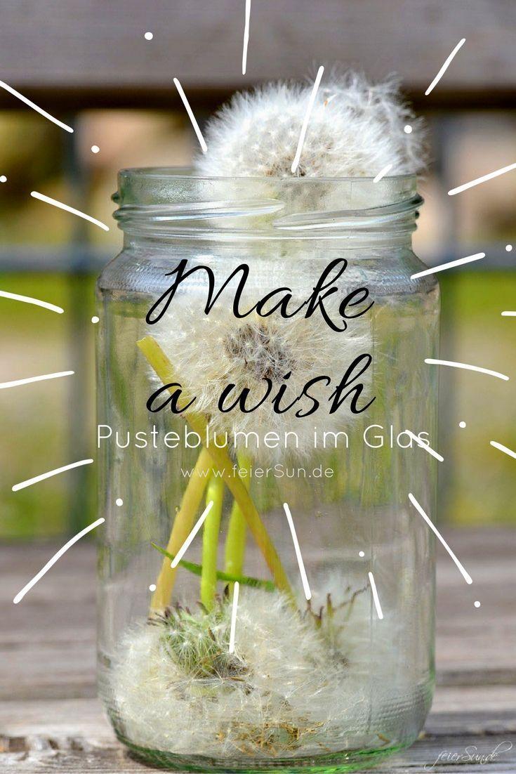 Make a wish Pusteblumen im Glas | | Geschenke