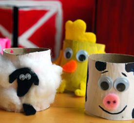Toilet Roll Farm Animals #kids #craft #recycled