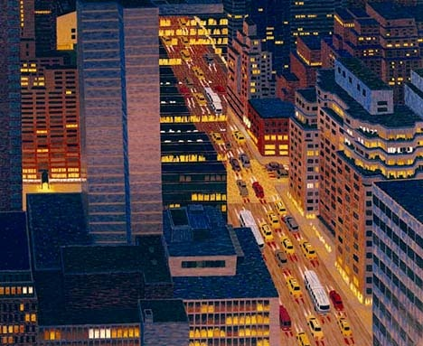 Love the elevated cityscapes and landscapes by Yvonne Jacquette