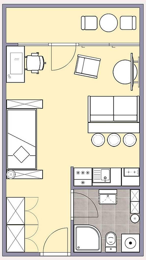 einzimmerwohnung einrichten kluges raumspar konzept brasilien, pin von virginia auf rooms pinterest schlafzimmer, schlafzimmer, Design ideen