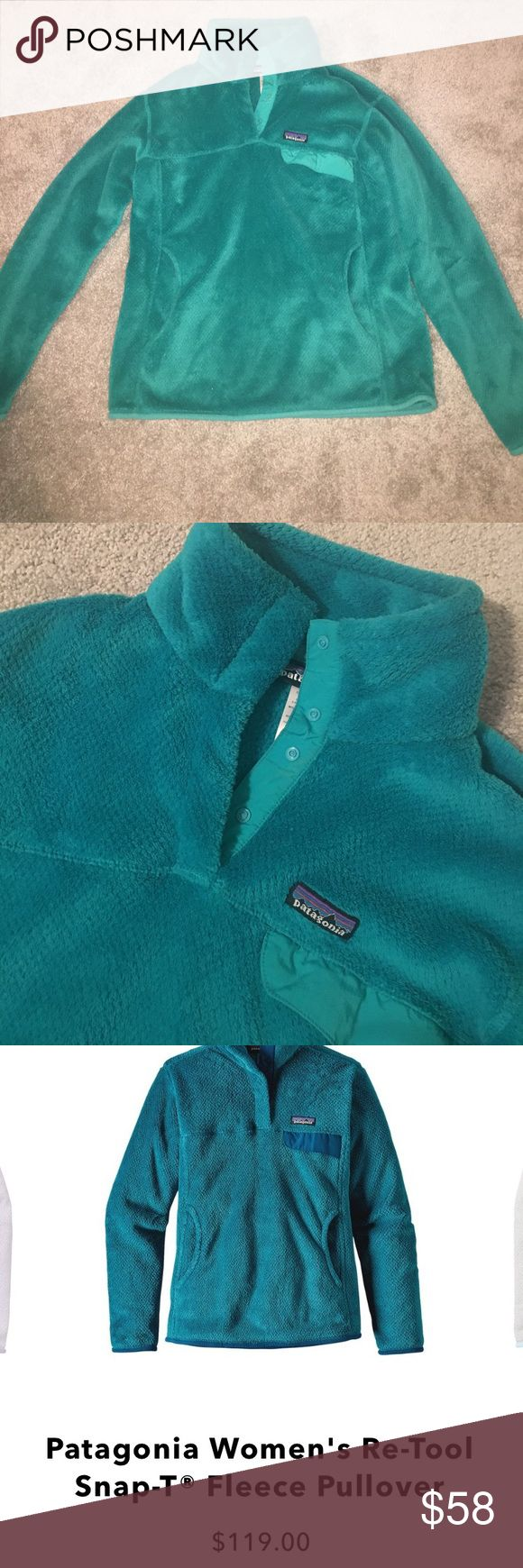Teal Patagonia retool pullover Gorgeous color. Great condition. Patagonia Tops Sweatshirts & Hoodies