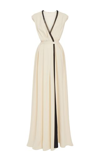 Rhie Wrap Front Gown