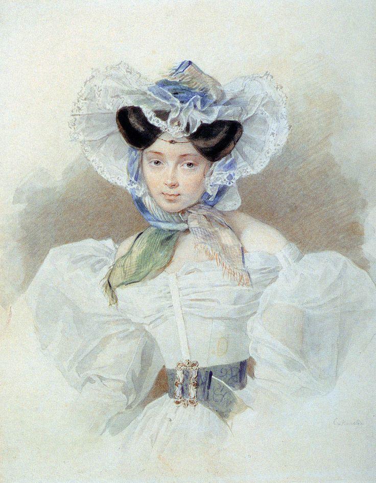 Princess Louise Trofimovna Golitsyn (1810-1876), ur. Baranova. Daughter T.O.Baranova (1779-1828) and Yu.F.Adlenberg (1789-1864), since 1832 the wife of Mikhail Fedorovich Golitsyn (1801-1871).