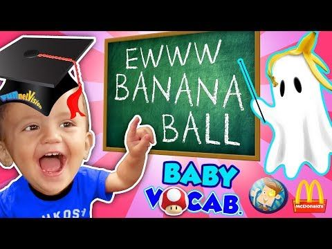 BABY VOCABULARY! Shawn's 1st Set of Words + Super Mario McDonald's & Playground Fun (FUNnel Vision) - YouTube