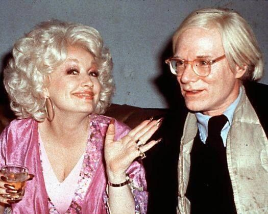 Dolly Parton parties with Andy Warhol at Studio 54