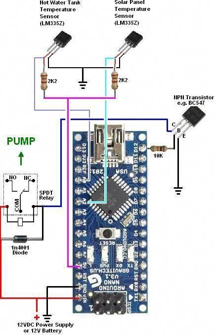 reuk co uk arduino simple solar water heating pump controller - arduino  nano #