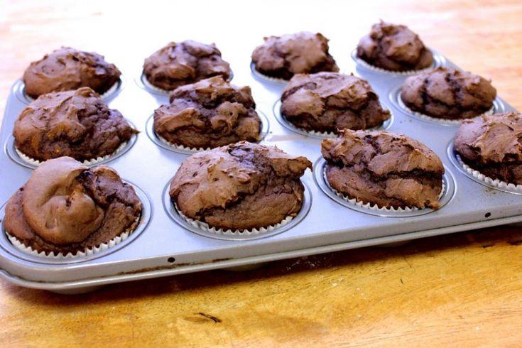 The World's Easiest Chocolate Pumpkin Muffins