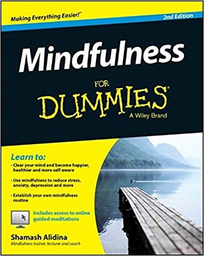 Mindfulness For Dummies | By Shamash Alidina | A step-by-step guide providing a comprehensive and user friendly introduction to mindfulness. Looking how you can use mindfulness to slow down, become aware of what is going on around you and react effectively. (Amazon.co.uk Affiliate Link)