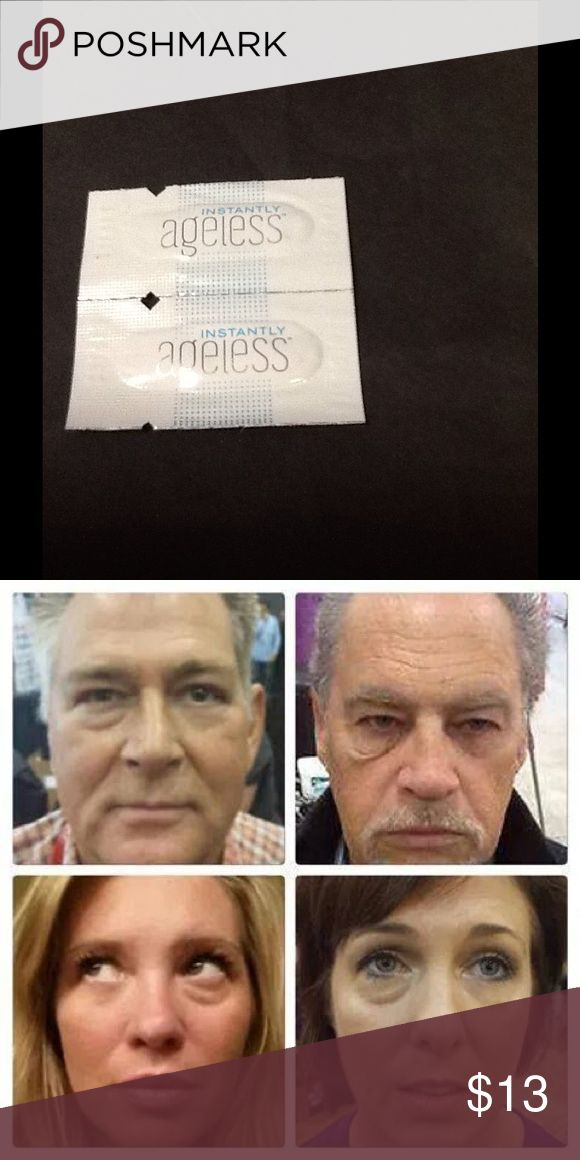 2sachets Instantly Ageless Original from Jeunesse Global. 2 saches. Within 2 minutes, reduces the appearance of under eyebags, fine lines, wrinkles and pores, and last 3 to 6 hours. 10 years younger in to 2 minutes!!!! Makeup