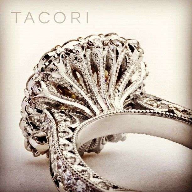 """This is what we call """"beauty from every angle"""". This attention to detail is what makes a Tacori ring so special. #handcrafted #unique"""