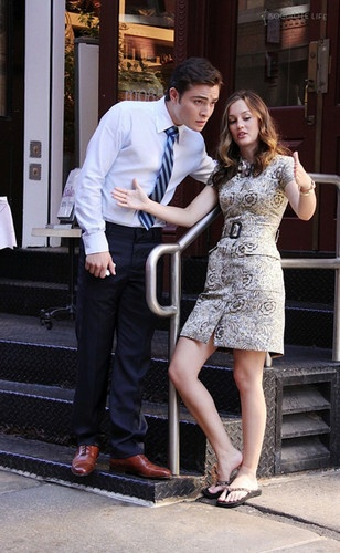 Ed and Leighton, because Blair would never be caught dead in flip flops