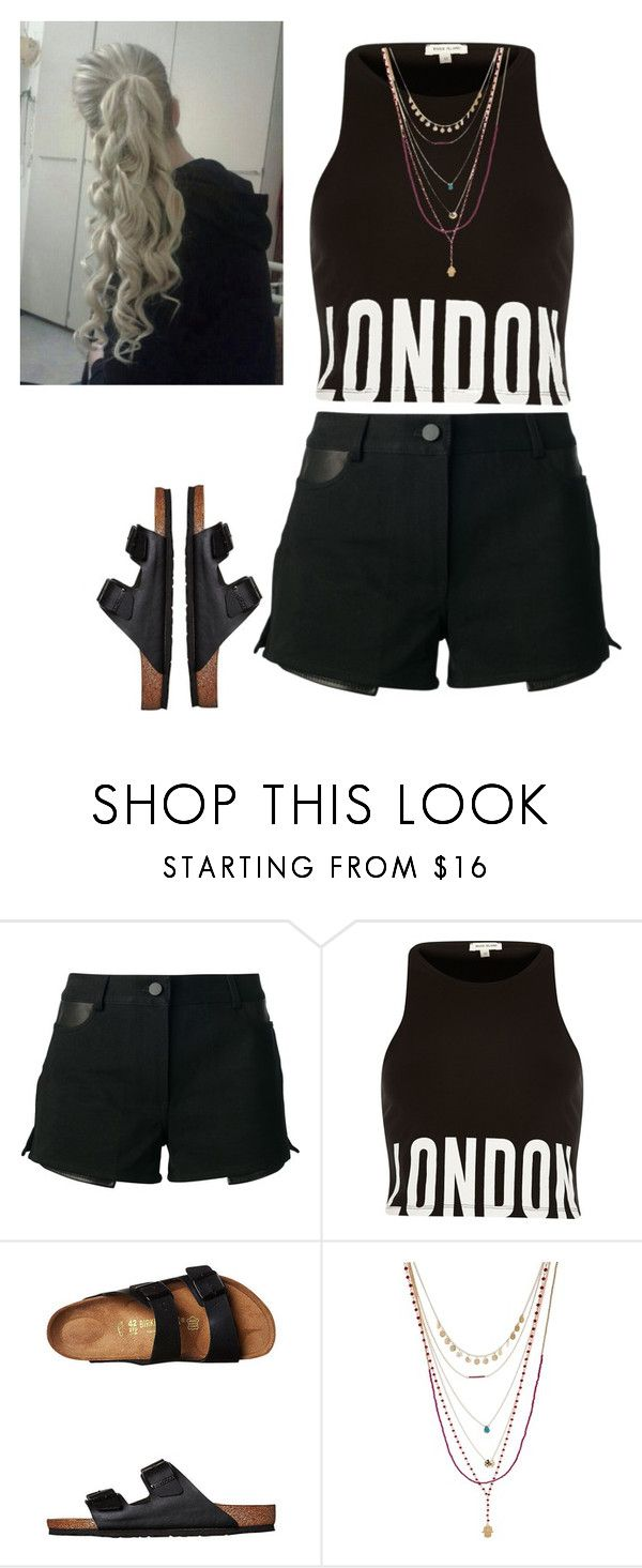 """""""Untitled #96"""" by californiadreaming123 ❤ liked on Polyvore featuring Alexander Wang, Black, Birkenstock and ASOS"""