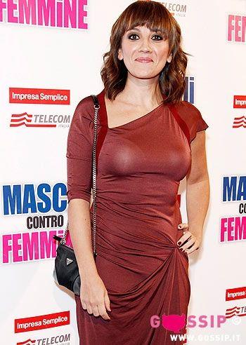 """Lucia Ocone, at the premiere of the movie """"Maschi contro Femmine"""" in Milan."""