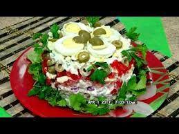 Самый вкусный салат с печенью трески
