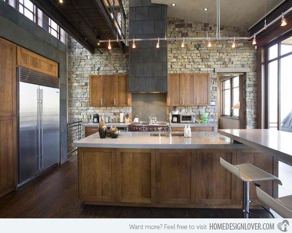 15 Stone Walled Kitchen Designs