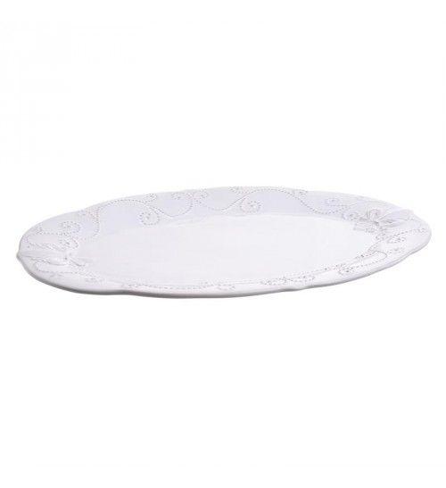 STONEWARE PLATE IN CREME COLOR 41X30X3