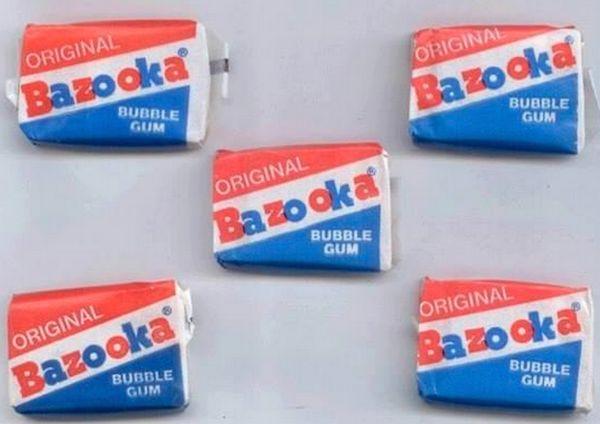 Chewing gum de mon enfance : mes préférés étaient les Malabar mais j'aimais bien egalement les Bazooka ! Ils étaient roses aussi.