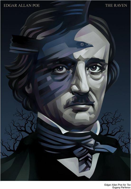 Clever Edgar Allan Poe Illustration by Evgeny Parfenov - My Modern Metropolis