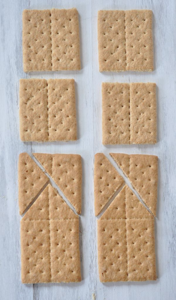 DIY Graham Cracker Houses--uses sugar to create a glue to hold them together.