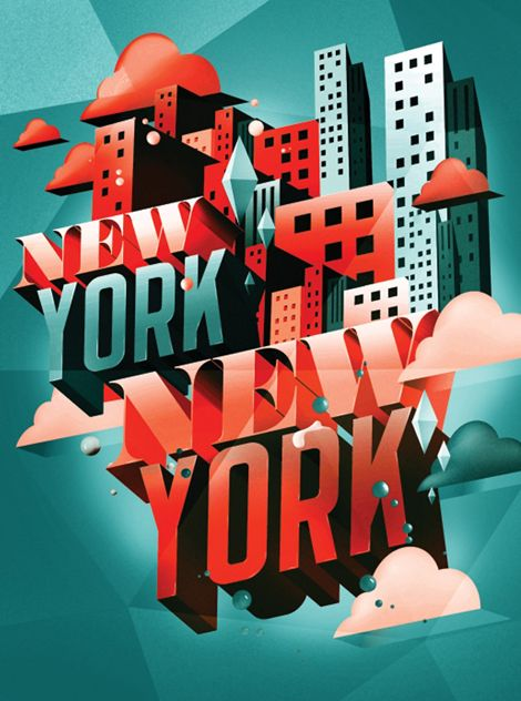 New York New York poster by I Love Dust