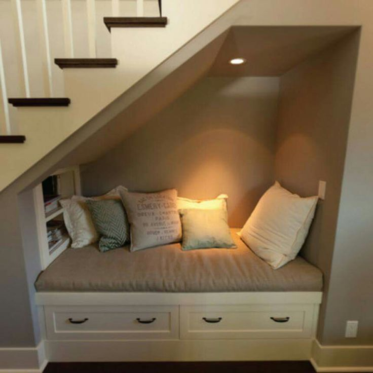 Under Stairs Book Nook   Love This Idea For The Basement!