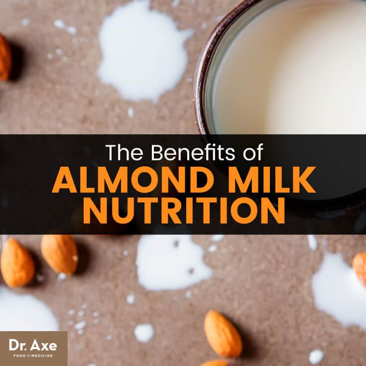 Almond milk nutrition - Dr. Axe http://www.draxe.com #health #holistic #natural