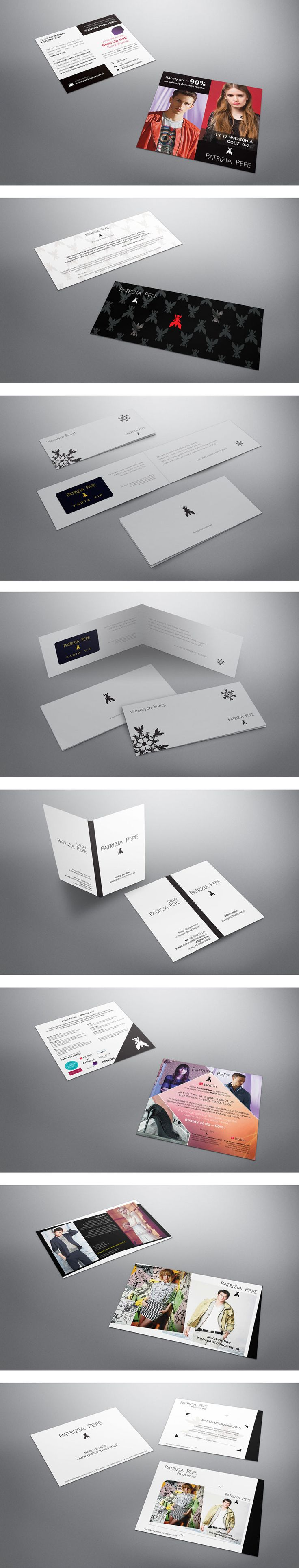 Graphic design for Patrizia Pepe. Project included several designs for print and web.