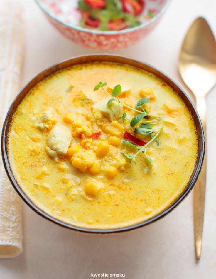Zupa kukurydziana z kaszą jaglaną i kurczakiem
