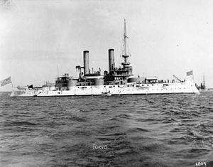 USS Iowa (BB- 4) fue un acorazado de la armada de los Estados Unidos. Fue el primer buque nombrado en honor al estado de Iowa. Fue un diseño único, sin ningún otro buque de su misma clase. Su quilla, fue puesta en grada por William Cramp and Sons de Filadelfia, (Pensilvania) el 5 de agosto de 1893. Fue botado el 28 de marzo de 1896, amadrinado por la hija del gobernador de Iowa, y comisionado el 16 de junio de 1897. Fue designado como acorazado costero