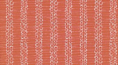 Nectar (MISP1053) - MissPrint Wallpapers - A representation of patterns found in the tree bark in a retro geometric style. Shown here in white flame red - more colours are available. Please request a sample for true colour match.