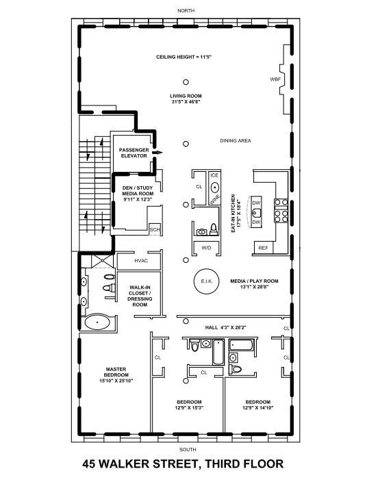 One story floor plans with loft thefloors co for 1 5 story house plans with loft