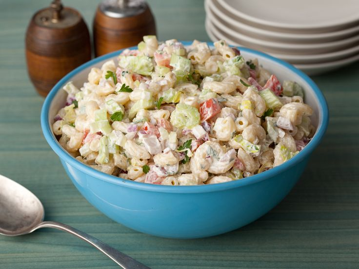 American Macaroni Salad: Food Network, Mac Salad, Sour Cream, Pastasalad, Side Dishes, Salad Recipes, Pasta Salad, American Macaroni, Macaroni Salad