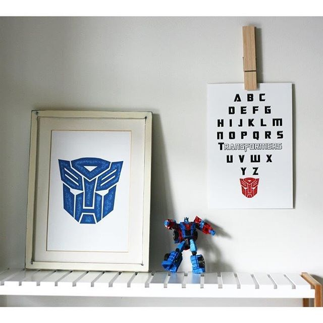 Why not mix and match the colours. These two prints go together so well! Any Transformers fan will  love them! And if your kid is starting school next year this could be a great Xmas present!