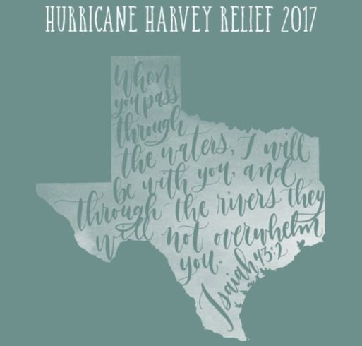 Hurricane Harvey Relief Shirt for Yelovich family shirt design - zoomed