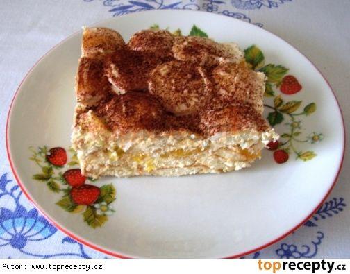 Mandarinkový nepečený dort