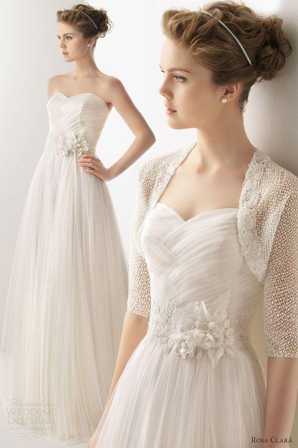 soft by rosa clara 2014 bridal unico wedding dress strapless bolero jacket    I like it without the jacket