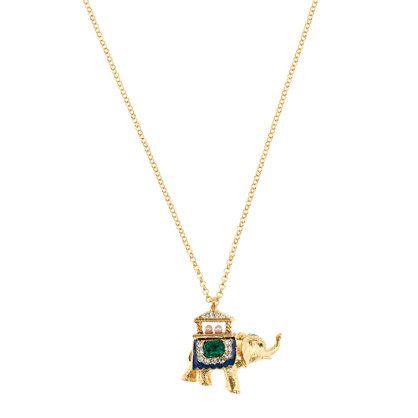 Blue elephant pendant necklace. J. Crew.Jcrew I, Elephant Necklace