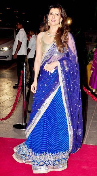 Sangeeta Bijlani at the reception - Arpita khan's wedding pic