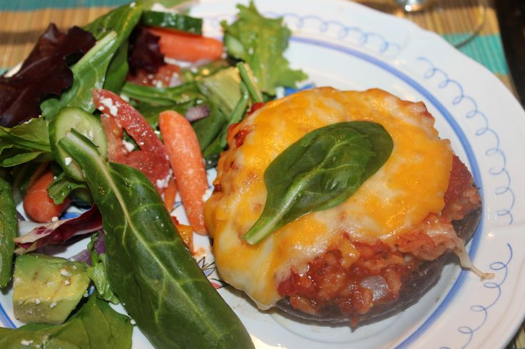 Portobello Mushroom Pizza — Food Huntress cut the rice!