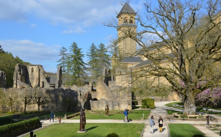 Belgium: Abbaye Notre-Dame d'Orval in the Gaume region of Belgium. Brews trappist beers (Orval Brewery). Provides guest accommodations.