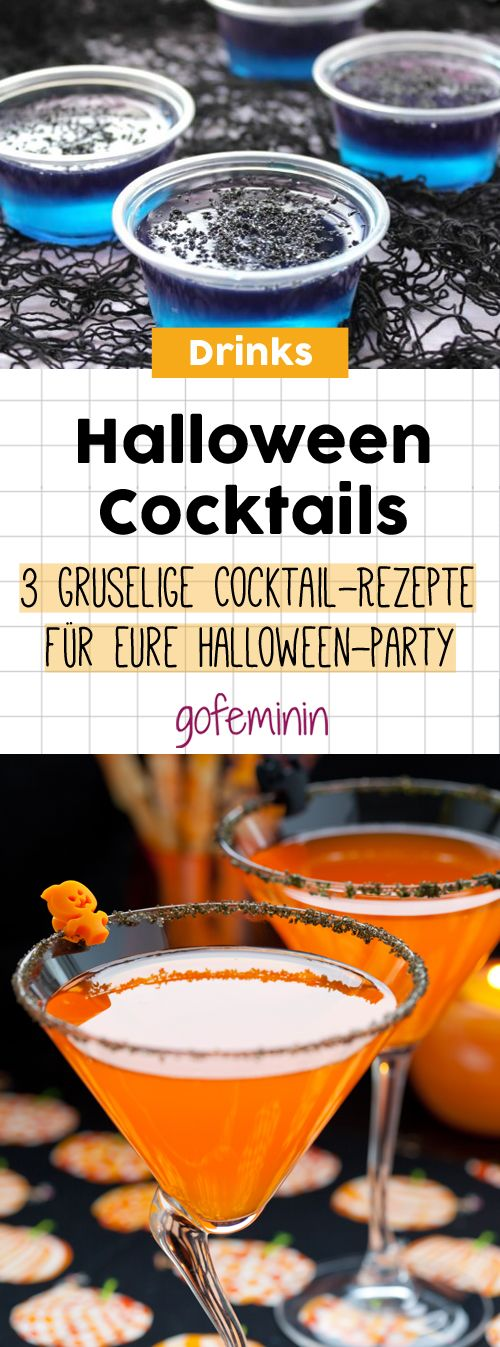 Happy Halloween! 3 gruselige Cocktail-Rezepte für eure Party