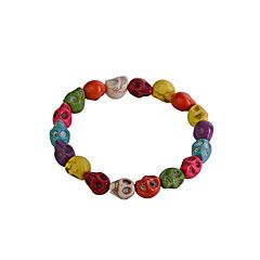 lureme®10mm kleurrijke schedel armband – EUR € 2.99