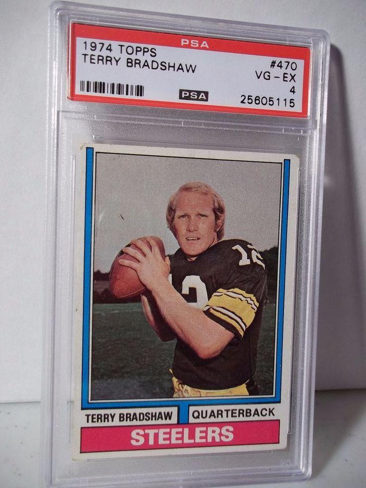 1974 topps terry bradshaw psa graded vgex 4 football card