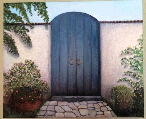 Portal campestre...oleo sobre tela...para Luis y Rosana