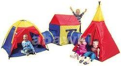 Namiot ogrodowy 5w1 iglo-domek-tipi oraz 2 tunele 8906 - Abawki.pl :: zabawki dla dzieci, lalki dla dzieci, traktory rolly toys, namioty dla dzieci