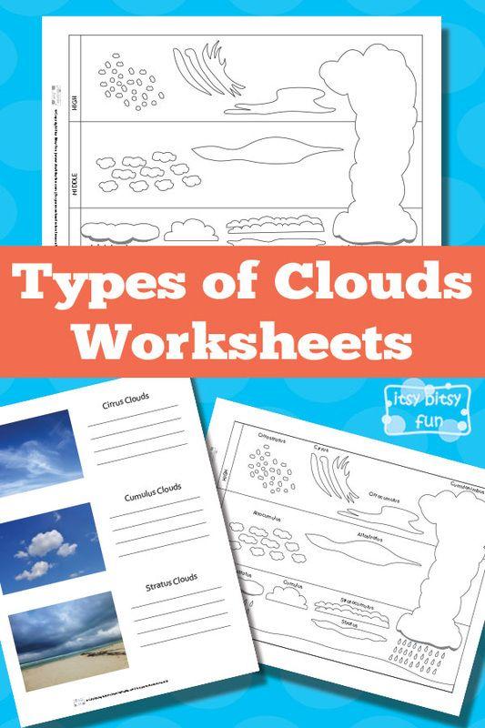 Free Printable Types of Clouds Worksheets