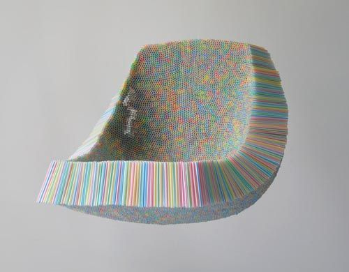 Clutch Chair with 10000 straws