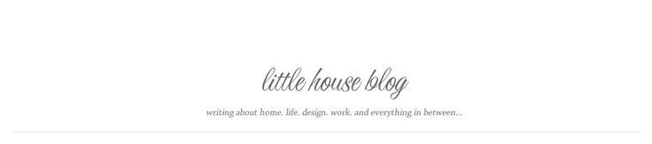 Aubrey & Lindsay's Little House Blog